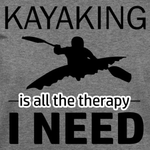 Kayaking is my therapy - Women's Wideneck Sweatshirt