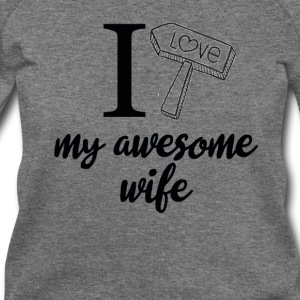 I love my awesome wife birthday tshirt - Women's Wideneck Sweatshirt