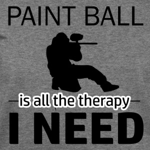 Paint Ball is my therapy - Women's Wideneck Sweatshirt