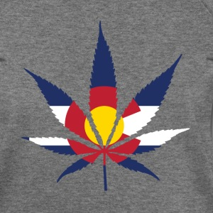Colorado Pot Leaf Flag - Women's Wideneck Sweatshirt