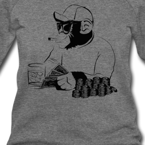 Chimp poker - Women's Wideneck Sweatshirt