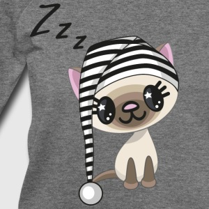 hat-cat-sleeping-animal - Women's Wideneck Sweatshirt