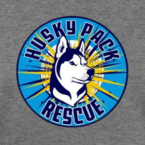 Support Husky Pack Rescue - Women's Wideneck Sweatshirt