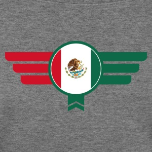 Mexico Badge Emblem Flag - Women's Wideneck Sweatshirt