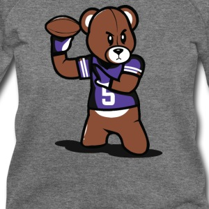 Teddy Football - Women's Wideneck Sweatshirt