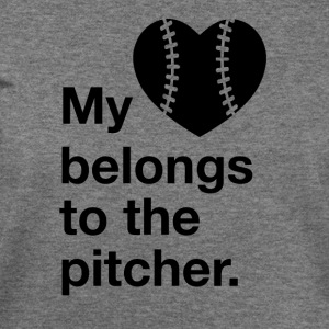 My heart belongs to the pitcher. - Women's Wideneck Sweatshirt