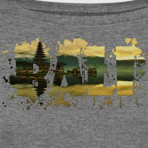 BALI SPLASH T-SHIRT DESIGN - Women's Wideneck Sweatshirt