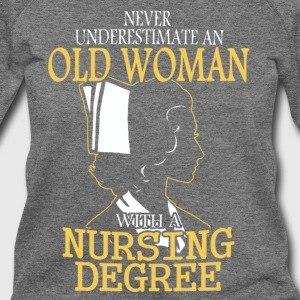 OLD WOMA NURSING DEGREE - Women's Wideneck Sweatshirt
