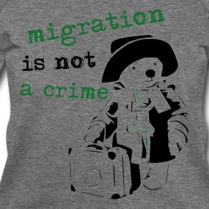 REFUGEES WELCOME - Women's Wideneck Sweatshirt