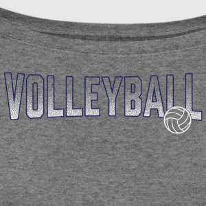 Volleyball Blue Gradient Ball - Women's Wideneck Sweatshirt