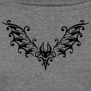 Filigree bat illustration - Women's Wideneck Sweatshirt
