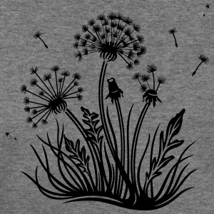 Large dandelion, summer and spring. - Women's Wideneck Sweatshirt