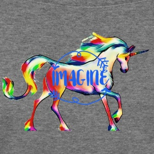 imagine Unicorn - Women's Wideneck Sweatshirt