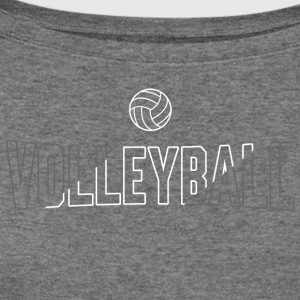 Volleyball Ball Slash - Women's Wideneck Sweatshirt