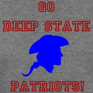 Go Deep State Patriots! - Blue - Women's Wideneck Sweatshirt
