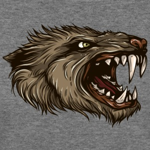 werewolf-head-animal-wildlife - Women's Wideneck Sweatshirt