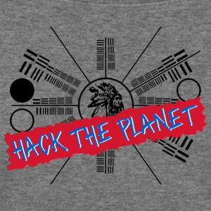 Hack the Planet T Shirt - Women's Wideneck Sweatshirt