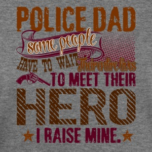 POLICE DAD SHIRT - Women's Wideneck Sweatshirt