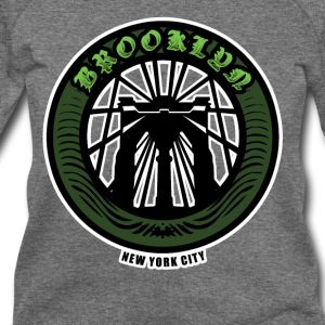 Brooklyn Bridge - NYC - New York City Money Green - Women's Wideneck Sweatshirt