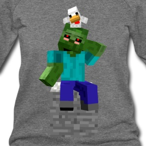 Zombie and Chicken - Women's Wideneck Sweatshirt