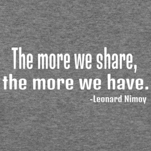 Leonard Nimoy quote in white - Women's Wideneck Sweatshirt
