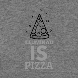 Illuminati and pizza - Women's Wideneck Sweatshirt