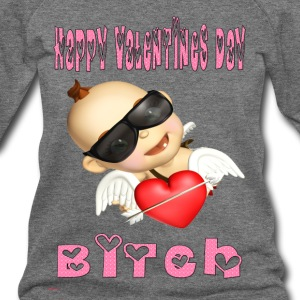 happy_valentines_day_bitch - Women's Wideneck Sweatshirt