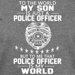 MY SON IS POLICE OFFICER T Shirt - Women's Wideneck Sweatshirt