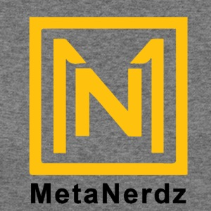MetaNerdz Logo With Black Words - Women's Wideneck Sweatshirt