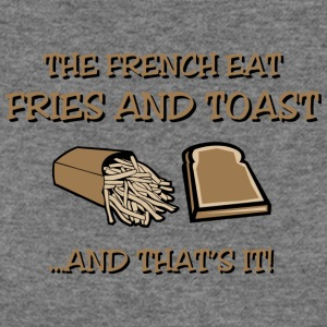 What the French Eat (Light) - Women's Wideneck Sweatshirt