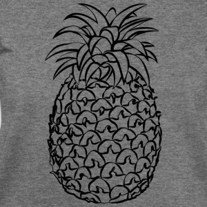 Pineapple Line Drawing - Women's Wideneck Sweatshirt