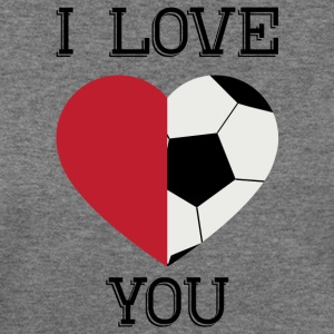 i love you soccer - Women's Wideneck Sweatshirt