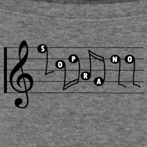 Soprano Singer Music Staff - Women's Wideneck Sweatshirt