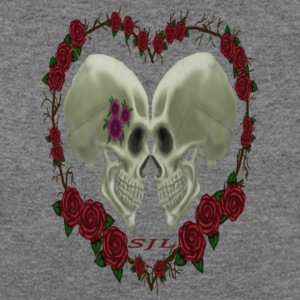 LOVE SKULLS ROSES - Women's Wideneck Sweatshirt