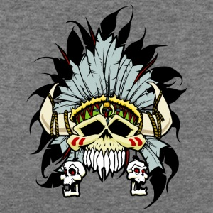 American_indian_skull - Women's Wideneck Sweatshirt