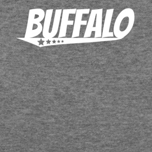 Buffalo Retro Comic Book Style Logo - Women's Wideneck Sweatshirt