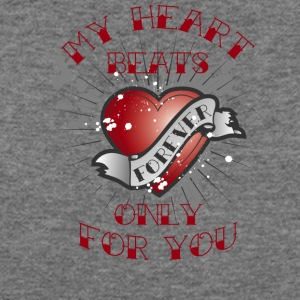 my heart beats for you - Women's Wideneck Sweatshirt