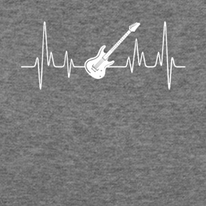 Electric Guitar Heartbeat Shirt - Women's Wideneck Sweatshirt