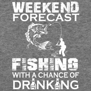 Weekend Forecast Fishing With Drinking T Shirt - Women's Wideneck Sweatshirt