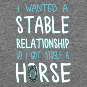i wanted a stable relationship so i got myself - Women's Wideneck Sweatshirt