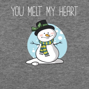 You Melt My Heart Winter Boyfriend Girlfriend - Women's Wideneck Sweatshirt