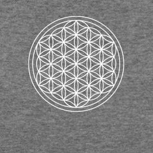 Flower of Life Sacred Geometry Design - Women's Wideneck Sweatshirt