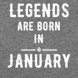 Legends are born in january - Women's Wideneck Sweatshirt