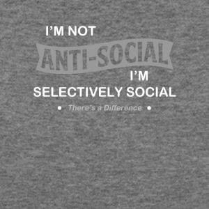 I'm not anti-social. I'm selectively Social. - Women's Wideneck Sweatshirt