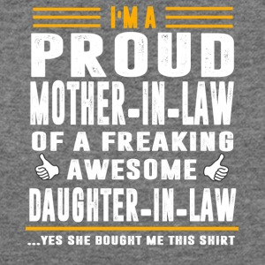 I m A Proud Mother In Law Of A Freaking Awesome - Women's Wideneck Sweatshirt