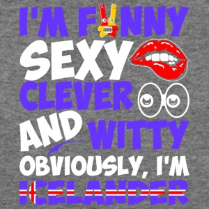 Im Funny Sexy Clever And Witty Im Icelander - Women's Wideneck Sweatshirt