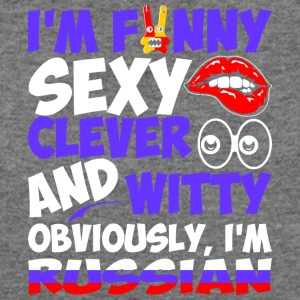 Im Funny Sexy Clever And Witty Im Russian - Women's Wideneck Sweatshirt