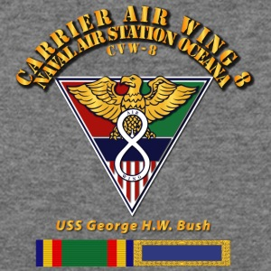 Carrier Air Wing 8 Black T Shirt - Women's Wideneck Sweatshirt