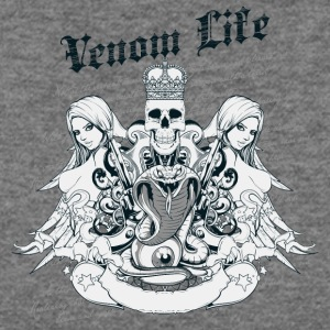 venom_life_skull_and_girls - Women's Wideneck Sweatshirt
