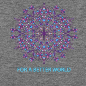 For a better world - Women's Wideneck Sweatshirt